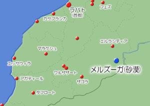 メルズーガの地図